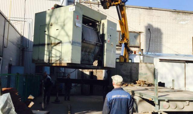 Транспортировка промышленной стиральной машины