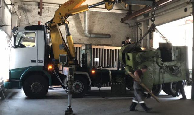 Перевозка 9 тонного пресса